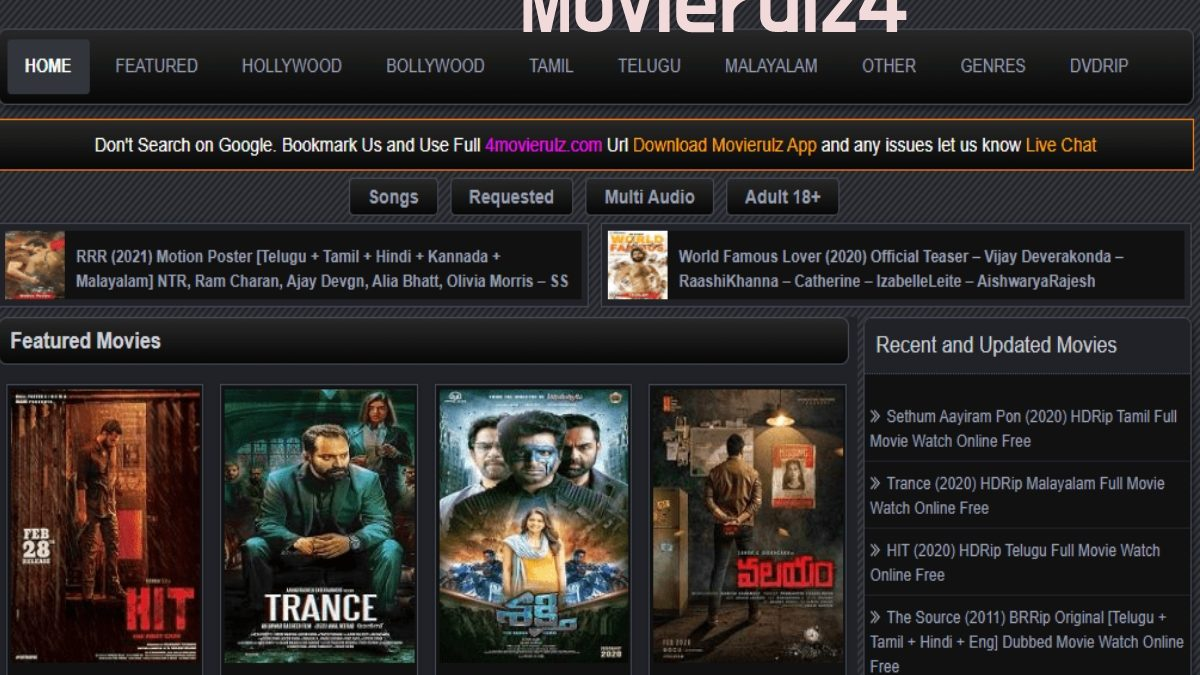 Movierulz4 – Movierulz4 2021 Download Latest HD Bollywood, Telugu, Tamil Movies, and More