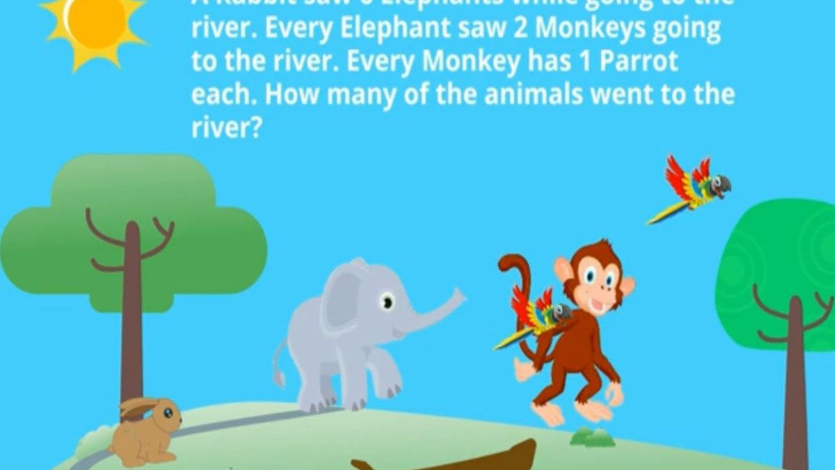 1 Rabbit saw 9 Elephants – How to Solve this Riddle English Vs Maths Battle